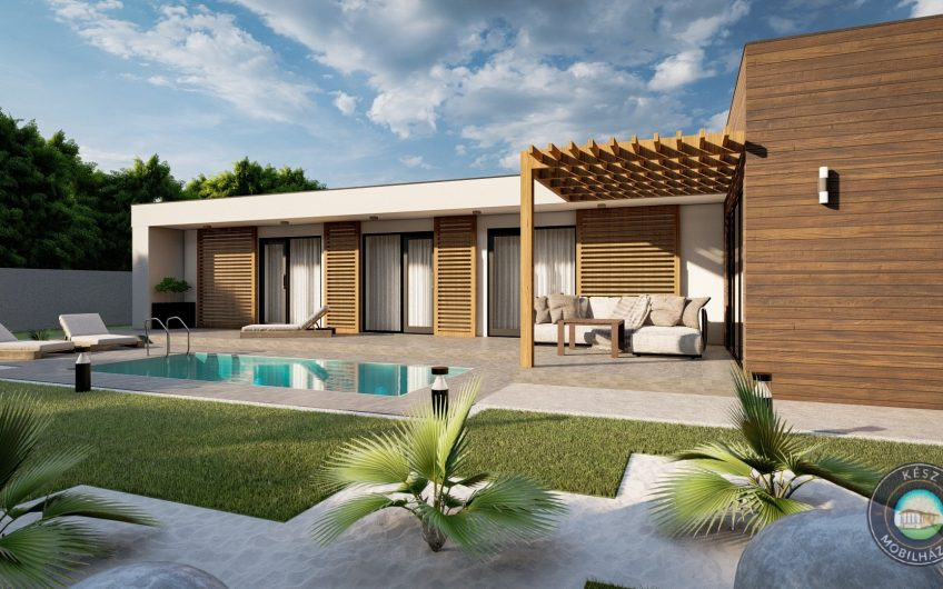 Somorja családi ház lapostetős típusterv (194 m²-es)