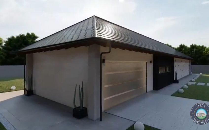 Pozsony családi ház magastetős típusterv (194 m²-es)