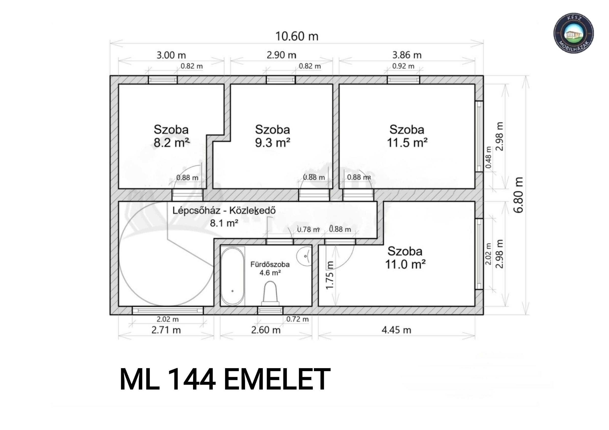 ML144 emelet